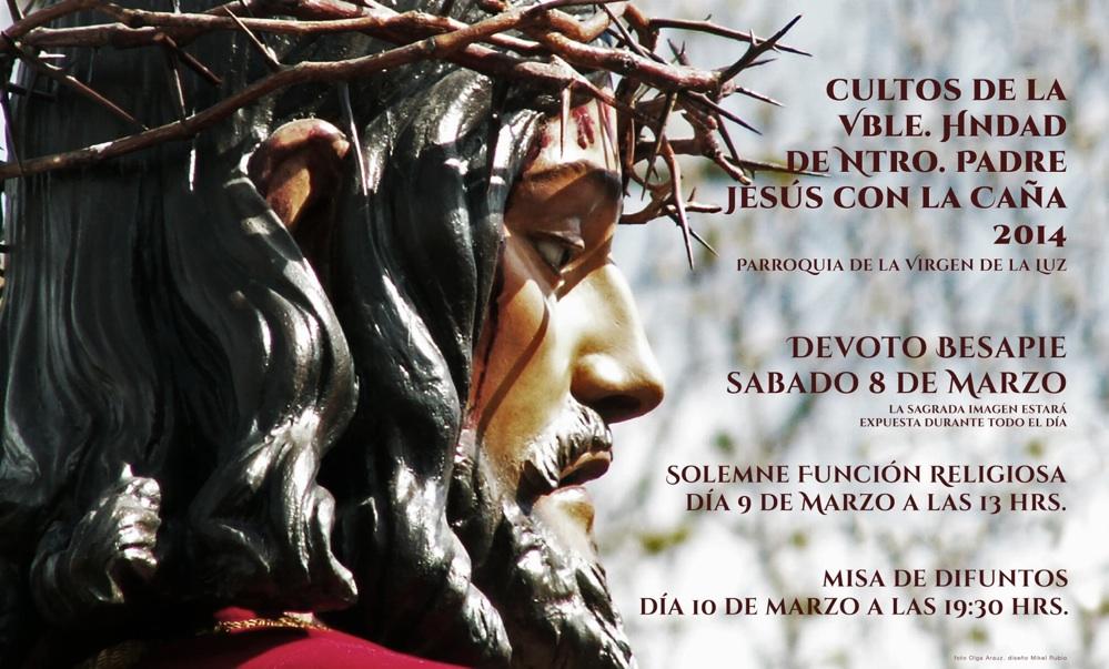 Cartel de Cultos 2014. Diseño Mikel Rubio, foto Olga Arauz.