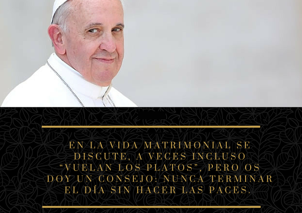 papa francisco matrimonio