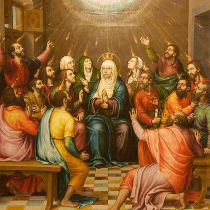 Pentecostés: la venida del Espíritu Santo.